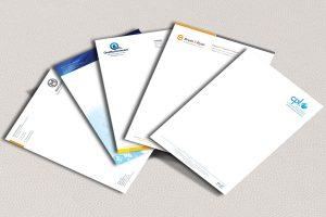 Nhận diện thương hiệu thông qua giấy tiêu đề và biểu mẫu