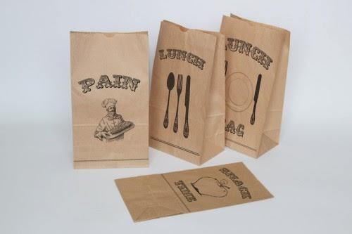 In túi giấy đựng bánh mì giấy kraft