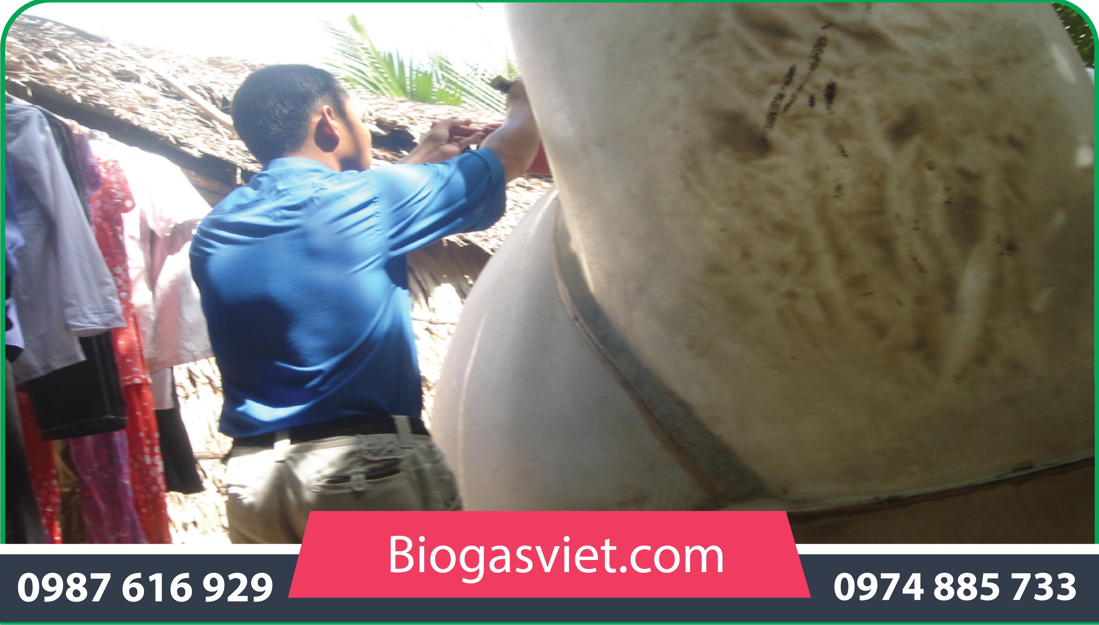 Xử lý nước thải chăn nuôi heo bằng công nghệ hầm biogas composite