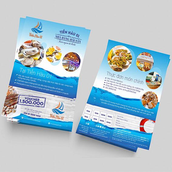 In brochure cao cấp dùng để quảng cáo