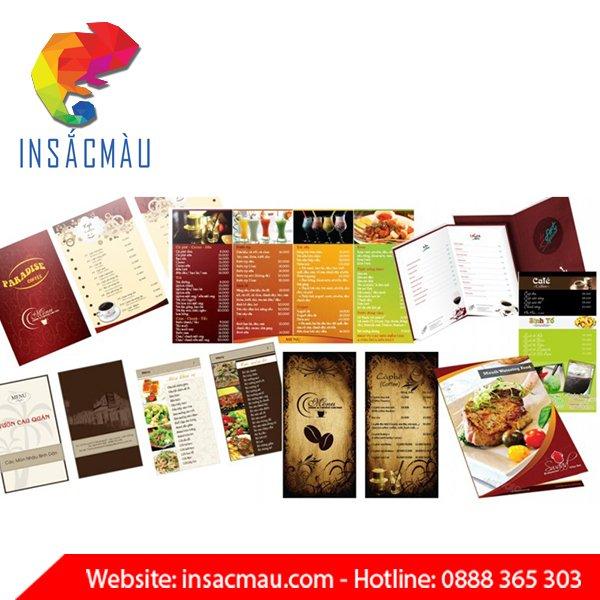 Những chất liệu in menu phổ biến được sử dụng hiện nay